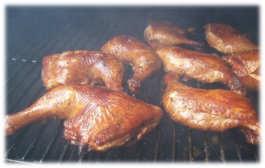 Smoked Chicken Quarters Smoke Grill Bbq