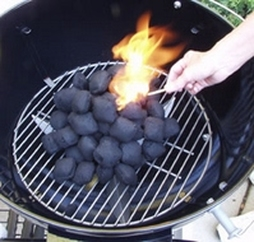Lighting a Charcoal Grill
