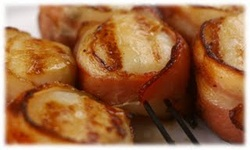 Bacon Wrapped Smoked Scallops